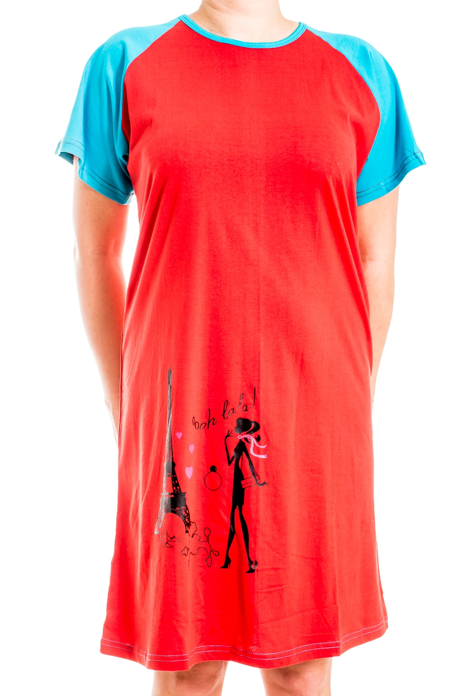 ТуникаТуники<br>Яркая хлопковая туника. Домашняя одежда, прежде всего, должна быть удобной, практичной и красивой. В нашей домашней одежде Вы будете чувствовать себя комфортно, особенно, по вечерам после трудового дня.  В изделии использованы цвета: красный, голубой и др.  Ростовка изделия 170 см.<br><br>Горловина: С- горловина<br>По длине: Удлиненные<br>По рисунку: Животные мотивы,Цветные,С принтом<br>По сезону: Весна,Зима,Лето,Осень,Всесезон<br>По силуэту: Полуприталенные<br>Рукав: Короткий рукав<br>По материалу: Трикотаж,Хлопок<br>Размер : 52<br>Материал: Трикотаж<br>Количество в наличии: 1