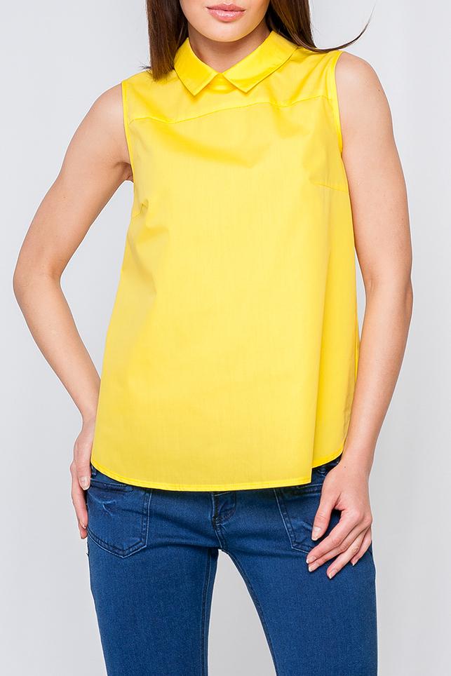 БлузкаБлузки<br>Женская блуза из легкой ткани, модель свободного покроя, нежный цвет подойдет как и для романтического свидания так и для деловой встречи, идеально будет сочетаться с брюками.   Параметры размеров: 44 размер: обхват груди - 96 см, обхват по линии бедер - 104 см, длина по спинке - 61 см; 52 размер: обхват груди - 112 см, обхват по линии бедер - 120 см, длина по спинке - 64 см  Цвет: желтый  Рост девушки-фотомодели 170 см<br><br>Воротник: Отложной<br>Застежка: С молнией<br>По материалу: Тканевые,Хлопок<br>По рисунку: Однотонные<br>По сезону: Весна,Зима,Лето,Осень,Всесезон<br>По силуэту: Свободные<br>По стилю: Повседневный стиль,Летний стиль<br>По элементам: С отделочной фурнитурой<br>Рукав: Без рукавов<br>Размер : 40<br>Материал: Блузочная ткань<br>Количество в наличии: 1