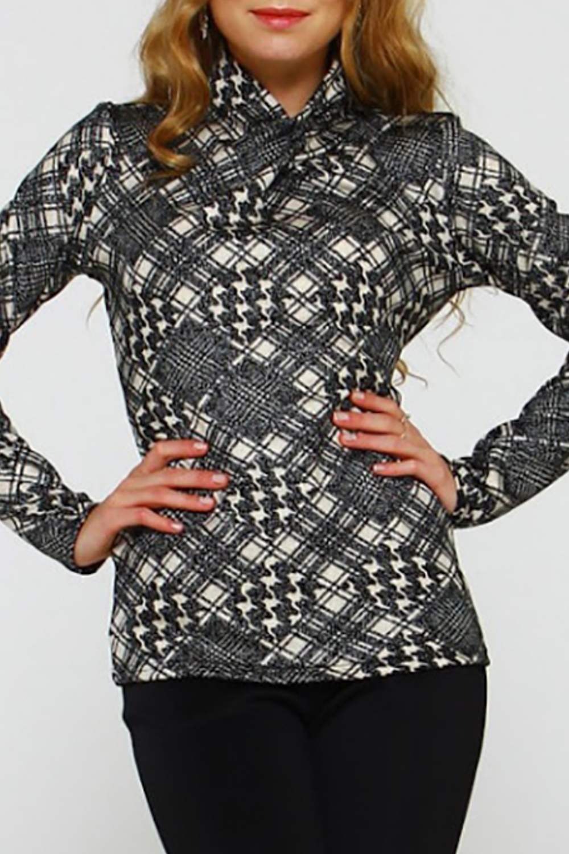БлузкаБлузки<br>Блуза из полушерстяного трикотажного полотна с вплетенной металлической нитью полуприлегающего силуэта. Рукав втачной, длинный,воротник-высокая стойка, переходящая в складку на полочке. Стильная блуза поднимет настроение и своей обладательнице, и окружающим Удобно, мегастильно и подходит под всё.  Длина изделия от 58 см до 64 см, в зависимости от размера.  В изделии использованы цвета: серый и др.  Рост девушки-фотомодели 167 см.<br><br>Воротник: Фантазийный<br>По материалу: Трикотаж<br>По образу: Город<br>По рисунку: С принтом,Цветные<br>По сезону: Весна,Зима,Лето,Осень,Всесезон<br>По силуэту: Прямые<br>По стилю: Повседневный стиль<br>Рукав: Длинный рукав<br>Размер : 46,50,52<br>Материал: Трикотаж<br>Количество в наличии: 3