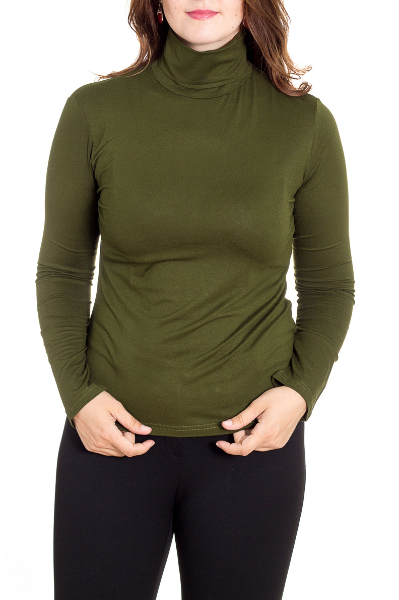 ВодолазкаВодолазки<br>Однотонная водолазка с длинными рукавами. Модель выполнена из приятного трикотажа. Отличный выбор для базового гардероба.  Цвет: зеленый  Рост девушки-фотомодели 180 см<br><br>Воротник: Стойка<br>По материалу: Трикотаж<br>По рисунку: Однотонные<br>По сезону: Зима,Осень,Весна<br>По силуэту: Приталенные<br>По стилю: Офисный стиль,Повседневный стиль<br>Рукав: Длинный рукав<br>Размер : 44,46,48,50<br>Материал: Вискоза<br>Количество в наличии: 5