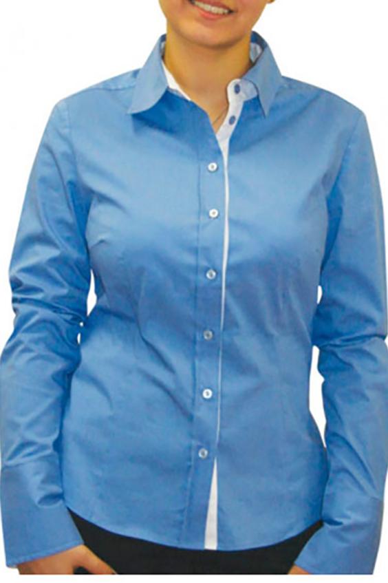 РубашкаРубашки<br>Женская рубашка с длинными рукавами. Модель выполнена из приятного материала. Отличный выбор для повседневного и делового гардероба.  Цвет: голубой<br><br>Воротник: Рубашечный<br>По сезону: Весна,Всесезон,Зима,Лето,Осень<br>Рукав: Длинный рукав<br>По материалу: Хлопок<br>По стилю: Офисный стиль,Повседневный стиль,Классический стиль<br>Застежка: С пуговицами<br>По элементам: С манжетами<br>По силуэту: Приталенные<br>Размер : 48,50<br>Материал: Хлопок<br>Количество в наличии: 3