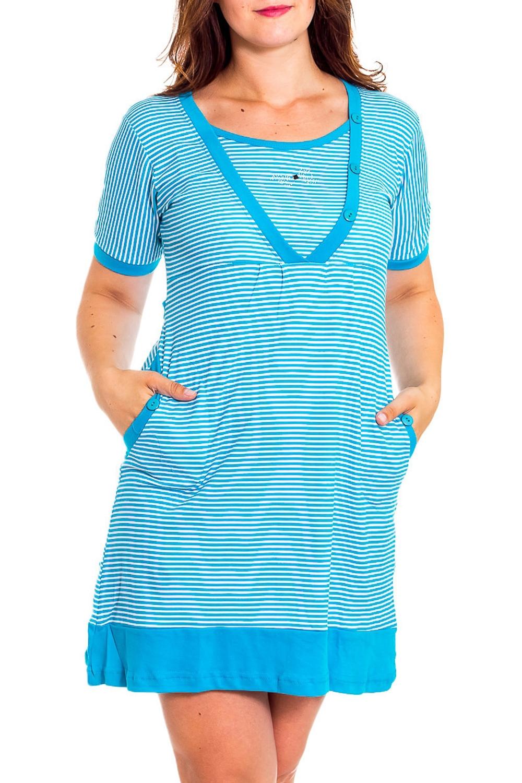 ТуникаПлатья<br>Хлопковое платье-туника с короткими рукавами. Домашняя одежда, прежде всего, должна быть удобной, практичной и красивой. В нашей домашней одежде Вы будете чувствовать себя комфортно, особенно, по вечерам после трудового дня.  Цвет: голубой.  Рост девушки-фотомодели 180 см<br><br>Горловина: С- горловина<br>По рисунку: В полоску,Цветные<br>По сезону: Весна,Зима,Лето,Осень,Всесезон<br>По силуэту: Полуприталенные<br>По форме: Платья<br>По элементам: С декором<br>Рукав: Короткий рукав<br>По материалу: Хлопок<br>Размер : 46,48,50<br>Материал: Хлопок<br>Количество в наличии: 3