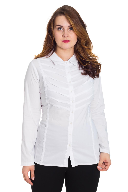 БлузкаБлузки<br>Классическая рубашка с длинными рукавами. Модель выполнена из приятного материала. Отличный выбор для повседневного и делового гардероба.  Цвет: белый  Рост девушки-фотомодели 180 см.<br><br>Воротник: Рубашечный<br>Застежка: С пуговицами<br>По материалу: Блузочная ткань,Хлопок<br>По образу: Город,Офис,Свидание<br>По рисунку: Однотонные<br>По сезону: Весна,Всесезон,Зима,Лето,Осень<br>По силуэту: Полуприталенные<br>По стилю: Классический стиль,Офисный стиль,Повседневный стиль<br>По элементам: С карманами,С манжетами,Со складками<br>Рукав: Длинный рукав<br>Размер : 52,56<br>Материал: Блузочная ткань<br>Количество в наличии: 1