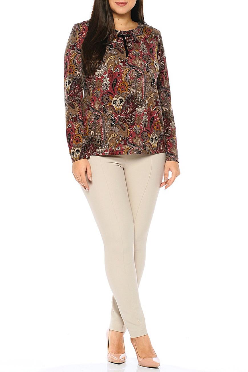 БлузкаБлузки<br>Цветная блузка с длинными рукавами. Модель выполнена из мягкого вискозного трикотажа. Отличный выбор для повседневного гардероба.  В изделии использованы цвета: бордовый, коричневый, горчичный  Ростовка изделия 170 см.<br><br>Горловина: С- горловина<br>По материалу: Вискоза,Трикотаж<br>По рисунку: С принтом,Цветные,Этнические<br>По сезону: Весна,Зима,Лето,Осень,Всесезон<br>По силуэту: Приталенные<br>По стилю: Повседневный стиль<br>По элементам: С декором<br>Рукав: Длинный рукав<br>Размер : 54,64<br>Материал: Трикотаж<br>Количество в наличии: 2