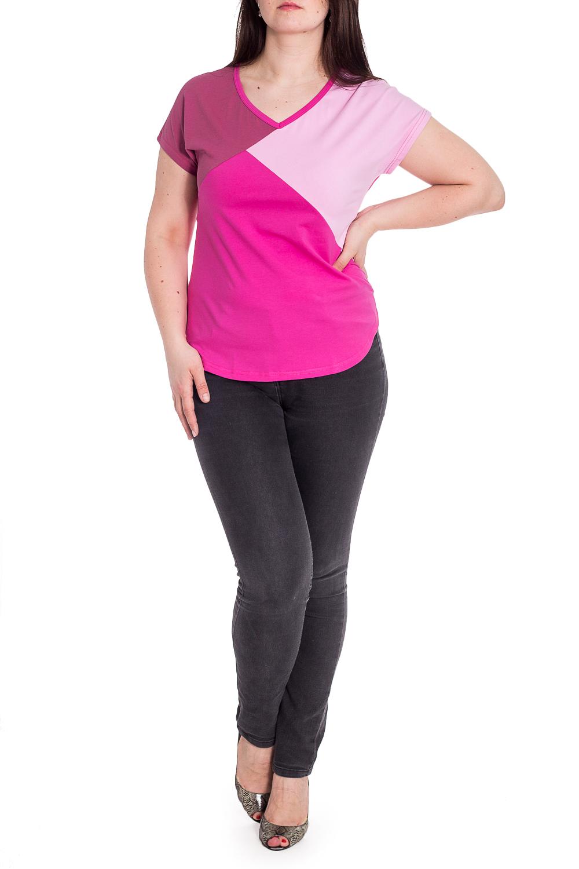ДжемперБлузки<br>Цветной джемпер с V-образной горловиной и короткими рукавами. Модель выполнена из приятного материала. Отличный выбор для повседневного гардероба. Ростовка изделия 164 см.  В изделии использованы цвета: розовый  Рост девушки-фотомодели 180 см.<br><br>Горловина: V- горловина<br>По материалу: Трикотаж<br>По рисунку: Цветные<br>По сезону: Весна,Зима,Лето,Осень,Всесезон<br>По силуэту: Приталенные<br>По стилю: Повседневный стиль<br>Рукав: Короткий рукав<br>Размер : 48,50,52,54<br>Материал: Трикотаж<br>Количество в наличии: 11