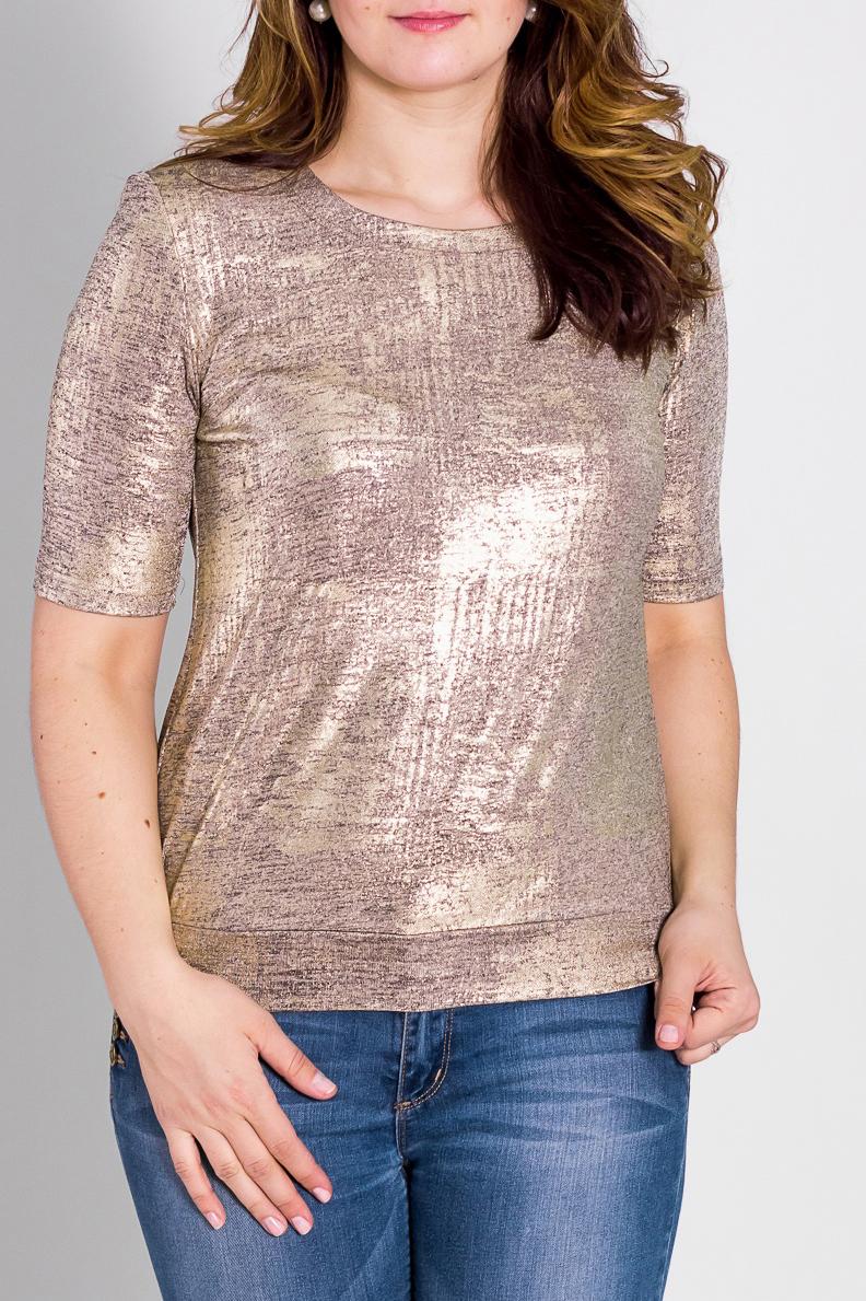 БлузкаБлузки<br>Красивая блузка с рукавами до локтя. Модель выполнена из приятного трикотажа. Отличный выбор для любого случая.  Цвет: бежевый, розовый  Рост девушки-фотомодели 180 см<br><br>Горловина: С- горловина<br>По материалу: Вискоза,Трикотаж<br>По рисунку: Цветные<br>По сезону: Весна,Всесезон,Зима,Лето,Осень<br>По силуэту: Полуприталенные<br>По стилю: Повседневный стиль<br>Рукав: До локтя<br>Размер : 44-46,52-56,64-66<br>Материал: Вискоза<br>Количество в наличии: 6