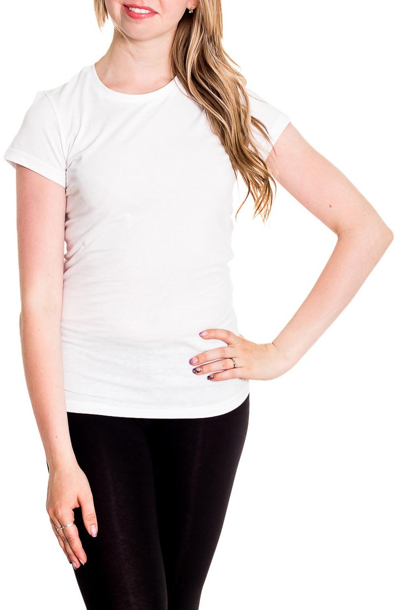 ФутболкаФутболки<br>Однотонная футболка с круглой горловиной и короткими рукавами. Модель выполнена из хлопкового материала. Отличный выбор для базового гардероба.  Цвет: белый  Рост девушки-фотомодели 170 см<br><br>Горловина: С- горловина<br>По материалу: Трикотаж,Хлопок<br>По рисунку: Однотонные<br>По сезону: Весна,Зима,Лето,Осень,Всесезон<br>По силуэту: Приталенные<br>По стилю: Повседневный стиль,Спортивный стиль<br>Рукав: Короткий рукав<br>Размер : 42,44,46,48<br>Материал: Хлопок<br>Количество в наличии: 6
