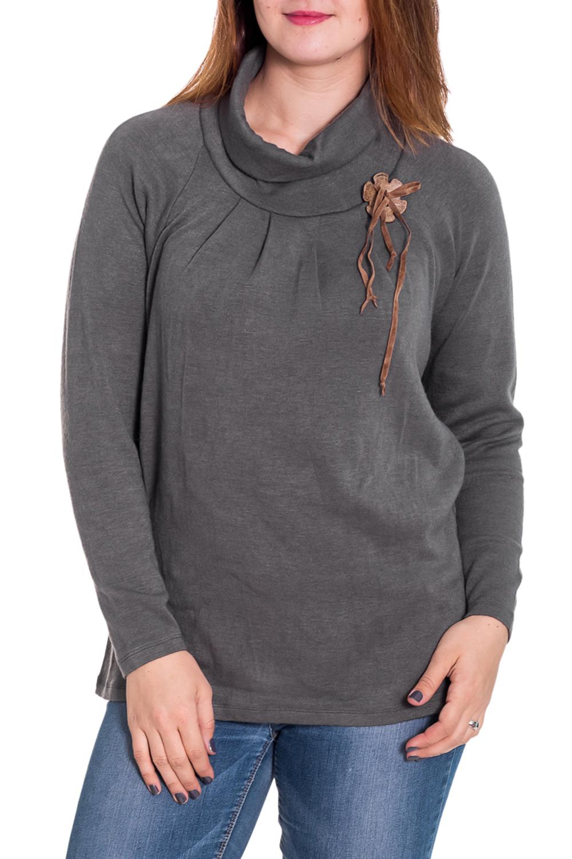 ДжемперДжемперы<br>Джемпер с цельнокроеным рукавом «летучая мышь», теплый, большой воротник «хомут», прямой, свободный силуэт. Брошь в комплекте (брошь может отличаться от изображенной на картинке)  Цвет: серый  Рост девушки-фотомодели 180 см<br><br>По материалу: Трикотаж<br>По рисунку: Однотонные<br>По сезону: Весна,Осень<br>По силуэту: Прямые,Свободные<br>По стилю: Офисный стиль,Повседневный стиль<br>По элементам: С декором<br>Рукав: Длинный рукав<br>Размер : 46,48,50,52,54,56,58,60<br>Материал: Трикотаж<br>Количество в наличии: 13