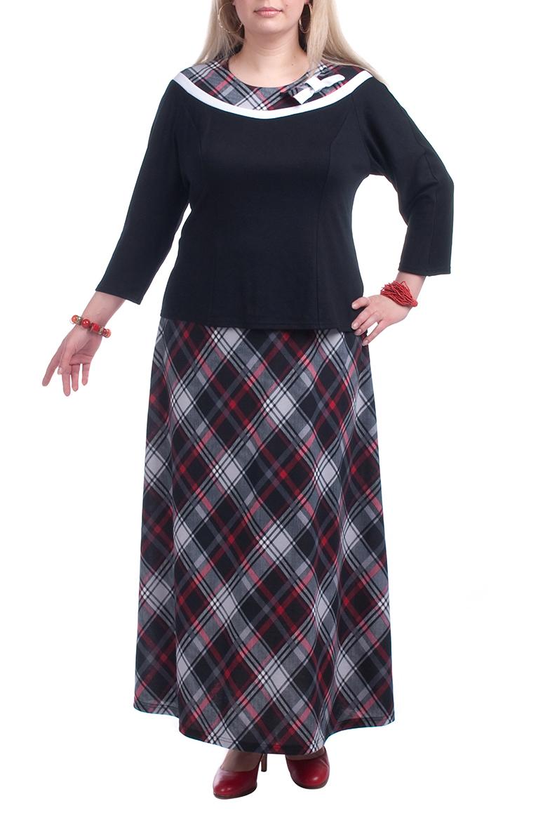 БлузкаБлузки<br>Красивая блузка с рукавами 3/4 и декоративным воротничком. Модель выполнена из приятного трикотажа. Отличный выбор для любого случая.  В изделии использованы цвета: черный, серый, красный  Рост девушки-фотомодели 173 см<br><br>Горловина: С- горловина<br>По материалу: Вискоза,Трикотаж<br>По образу: Город<br>По рисунку: С принтом,Цветные<br>По силуэту: Прямые<br>По стилю: Повседневный стиль<br>Рукав: Рукав три четверти<br>По сезону: Осень,Весна<br>Размер : 56,58,62<br>Материал: Джерси<br>Количество в наличии: 5