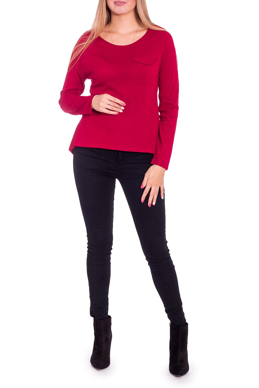 БлузкаБлузки<br>Женственная блузка с длинными рукавами. Модель выполнена из приятного материала. Отличный выбор для повседневного гардероба.  В изделии использованы цвета: бордовый  Рост девушки-фотомодели 170 см<br><br>Горловина: С- горловина<br>По материалу: Вискоза,Трикотаж,Шифон<br>По рисунку: Однотонные<br>По сезону: Весна,Зима,Лето,Осень,Всесезон<br>По силуэту: Прямые<br>По стилю: Повседневный стиль<br>По элементам: С фигурным низом<br>Рукав: Длинный рукав<br>Размер : 44,46<br>Материал: Трикотаж + Шифон<br>Количество в наличии: 2