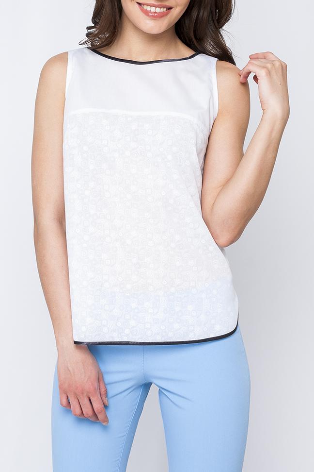 БлузкаБлузки<br>Женская блуза из легкой ткани, модель свободного покроя, белый классический цвет идеально подойдет как и для романтического свидания так и для деловой встречи. Блуза выигрышно сочетается как с юбкой, так и с брюками.   Параметры изделия:  на 44 размер: обхват груди - 98 см, длина по спинке 58,5 см;  на 52 размер: обхват груди - 114 см, длина по спинке 58,5 см.  В изделии использованы цвета: белый, черный  Рост девушки-фотомодели 170 см.<br><br>Горловина: С- горловина<br>По материалу: Хлопок<br>По рисунку: Однотонные<br>По сезону: Весна,Зима,Лето,Осень,Всесезон<br>По силуэту: Полуприталенные<br>По стилю: Офисный стиль,Повседневный стиль<br>Рукав: Без рукавов<br>Размер : 40,50,52,54<br>Материал: Хлопок<br>Количество в наличии: 4