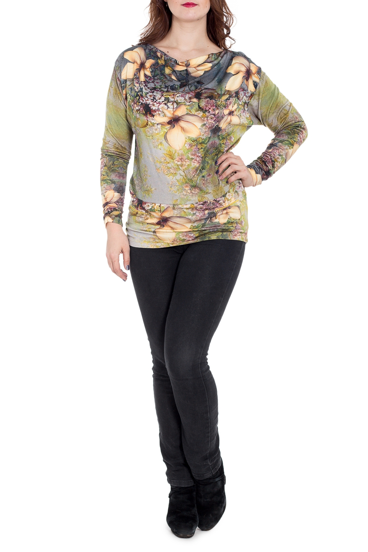 БлузкаБлузки<br>Цветная блузка с длинными рукавами и горловиной quot;качельquot;. Модель выполнена из приятного материала. Отличный выбор для повседневного гардероба.  В изделии использованы цвета: зеленый, желтый и др.  Рост девушки-фотомодели 180 см<br><br>Горловина: Качель<br>По материалу: Вискоза,Трикотаж<br>По рисунку: Растительные мотивы,С принтом,Цветные,Цветочные<br>По сезону: Весна,Зима,Лето,Осень,Всесезон<br>По силуэту: Приталенные<br>По стилю: Повседневный стиль<br>Рукав: Длинный рукав<br>Размер : 48,56,58<br>Материал: Трикотаж<br>Количество в наличии: 3