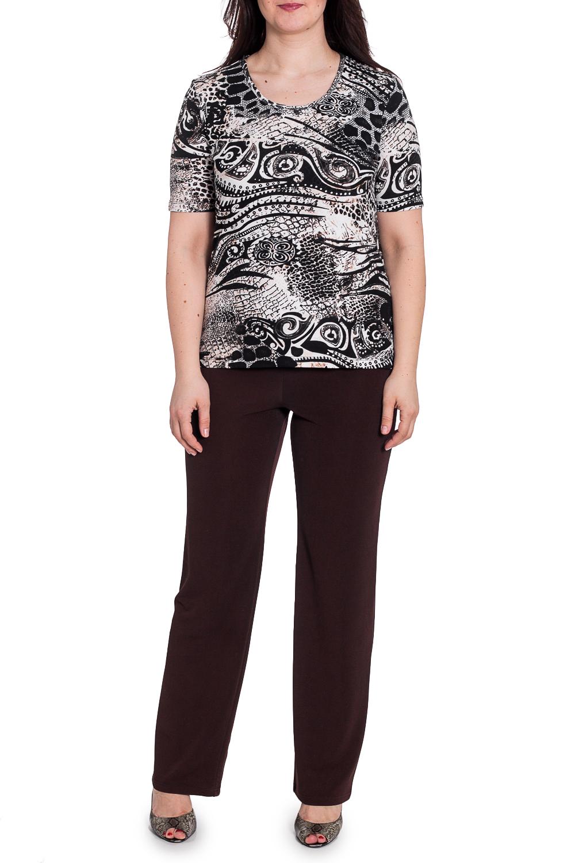 БлузкаБлузки<br>Цветная блузка с круглой горловиной и короткими рукавами. Модель выполнена из приятного материала. Отличный выбор для повседневного гардероба.  В изделии использованы цвета: черный, белый, бежевый  Рост девушки-фотомодели 180 см<br><br>Горловина: С- горловина<br>По материалу: Трикотаж,Хлопок<br>По рисунку: Леопард,Рептилия,С принтом,Цветные<br>По сезону: Весна,Зима,Лето,Осень,Всесезон<br>По силуэту: Приталенные<br>По стилю: Повседневный стиль<br>Рукав: Короткий рукав<br>Размер : 50,52,54<br>Материал: Трикотаж<br>Количество в наличии: 4