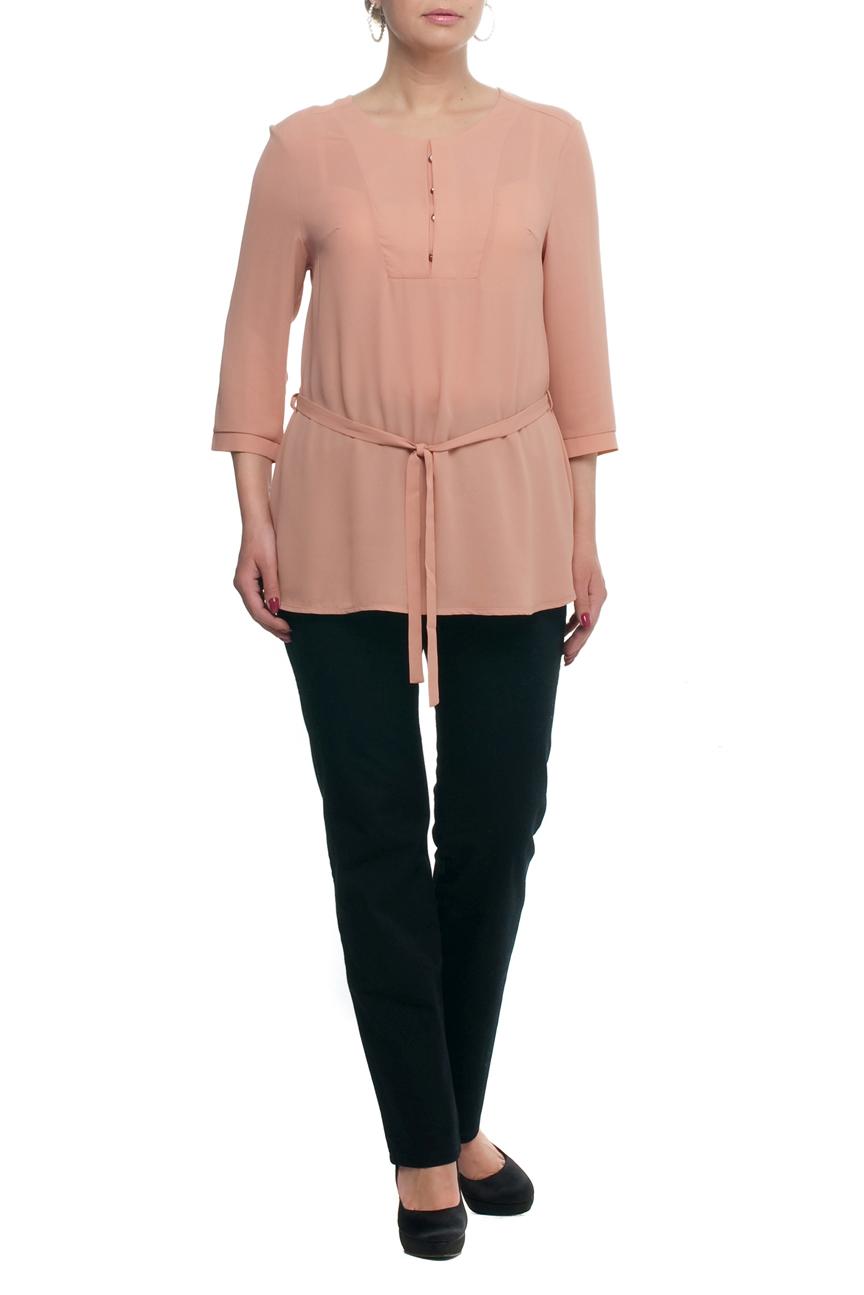 БлузаБлузки<br>Однотонная блузка с круглой горловиной и рукавами 3/4. Модель выполнена из воздушного шифона. Отличный выбор для любого случая. Блузка без пояса.  Цвет: пудровый  Рост девушки-фотомодели 173 см<br><br>Горловина: С- горловина<br>По материалу: Шифон<br>По рисунку: Однотонные<br>По сезону: Весна,Зима,Лето,Осень,Всесезон<br>По силуэту: Прямые<br>По стилю: Повседневный стиль<br>По элементам: С декором,С отделочной фурнитурой<br>Рукав: Рукав три четверти<br>Размер : 48,50,54,56,62,64,66,68,70<br>Материал: Шифон<br>Количество в наличии: 9