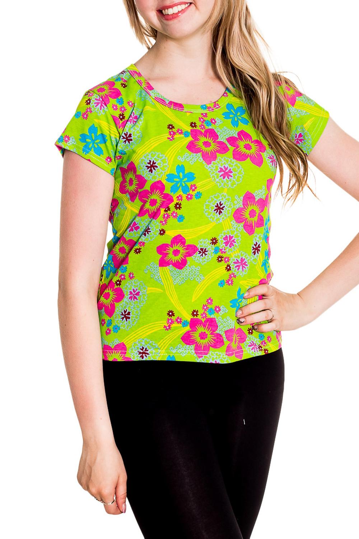 ФутболкаФутболки<br>Хлопковая футболка с короткими рукавами. Домашняя одежда, прежде всего, должна быть удобной, практичной и красивой. В наших изделиях Вы будете чувствовать себя комфортно, особенно, по вечерам после трудового дня.  Цвет: салатовый, мультицвет  Рост девушки-фотомодели 170 см<br><br>Горловина: С- горловина<br>По рисунку: Растительные мотивы,Цветные,Цветочные,С принтом<br>По сезону: Весна,Зима,Лето,Осень,Всесезон<br>По силуэту: Полуприталенные<br>По форме: Футболки<br>Рукав: Короткий рукав<br>По материалу: Хлопок<br>Размер : 42-44<br>Материал: Хлопок<br>Количество в наличии: 5