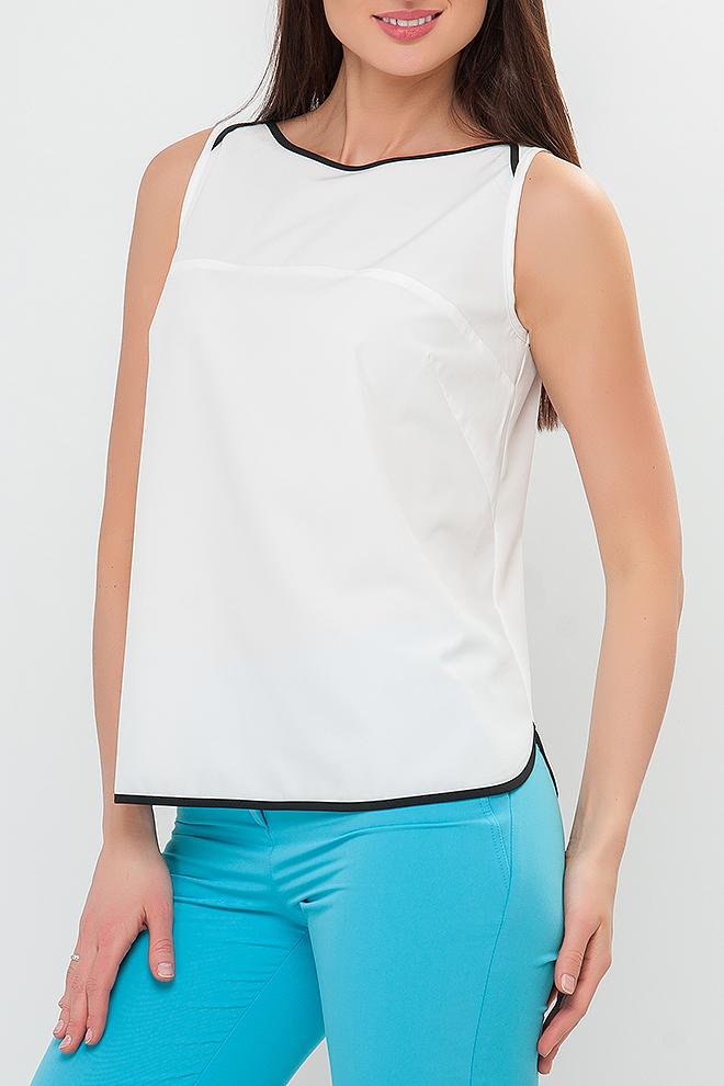 БлузкаБлузки<br>Блузка женская свободного силуэта, без рукавов. Белый классический цвет идеально подойдет как и для романтического свидания так и для деловой встречи. Блуза выигрышно сочетается с юбкой и брюками любого кроя и поможет создать женственный образ на каждый день.   Параметры изделия:  44 размер: обхват груди - 94 см, обхват бедер - 96 см, длина изделия - 62 см;  52 размер: обхват груди - 107 см, обхват бедер - 118 см, длина изделия - 63 см;  58 размер: обхват груди - 116 см, обхват бедер - 128 см, длина изделия - 64 см  В изделии использованы цвета: белый, черный  Рост девушки-фотомодели 175 см.<br><br>Горловина: Лодочка<br>Рукав: Без рукавов<br>Материал: Блузочная ткань<br>Рисунок: Однотонные<br>Сезон: Весна,Всесезон,Зима,Лето,Осень<br>Силуэт: Прямые<br>Стиль: Классический стиль,Кэжуал,Офисный стиль,Повседневный стиль<br>Размер : 48,50,52<br>Материал: Блузочная ткань<br>Количество в наличии: 3