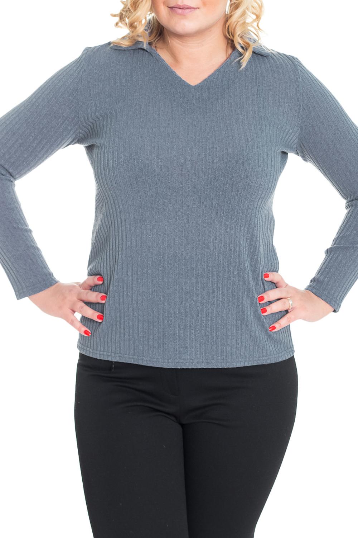 ПуловерПуловеры<br>Однотонный пуловер с длинными рукавами. Модель выполнена из приятного трикотажа. Отличный выбор для повседневного и делового гардероба.  Цвет: серый  Рост девушки-фотомодели 170 см<br><br>По образу: Город,Офис<br>По стилю: Повседневный стиль<br>По материалу: Трикотаж<br>По рисунку: Однотонные<br>По сезону: Зима<br>По силуэту: Полуприталенные<br>Рукав: Длинный рукав<br>Горловина: V- горловина<br>Размер: 48,50<br>Материал: 65% полиэстер 30% вискоза 5% эластан<br>Количество в наличии: 3