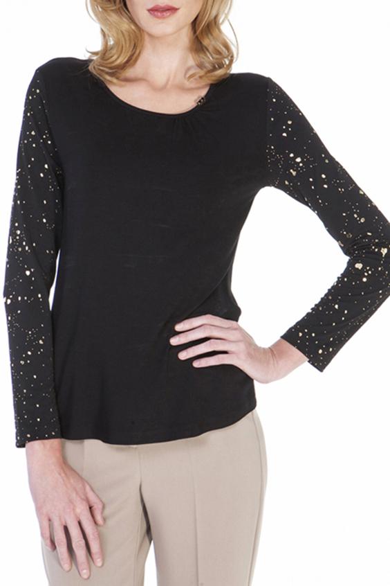 БлузкаБлузки<br>Красивая блузка с длинными рукавами и круглой горловиной. Модель выполнена из приятного трикотажа. Отличный выбор для повседневного гардероба.  Цвет: черный, бежевый  Ростовка изделия 170 см.<br><br>Горловина: С- горловина<br>По материалу: Вискоза,Трикотаж<br>По рисунку: В горошек,Цветные<br>По сезону: Весна,Всесезон,Зима,Лето,Осень<br>По силуэту: Свободные<br>По стилю: Повседневный стиль<br>Рукав: Длинный рукав<br>Размер : 44,46,48,50<br>Материал: Трикотаж<br>Количество в наличии: 4
