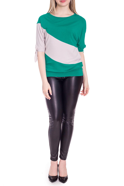 БлузкаБлузки<br>Цветная блузка с цельнокроеным рукавом. Модель выполнена из приятного материала. Отличный выбор для повседневного гардероба.  В изделии использованы цвета: зеленый, серый  Рост девушки-фотомодели 170 см.<br><br>Горловина: С- горловина<br>По материалу: Вискоза<br>По рисунку: Цветные<br>По сезону: Весна,Зима,Лето,Осень,Всесезон<br>По силуэту: Полуприталенные<br>По стилю: Повседневный стиль<br>Рукав: До локтя<br>Размер : 44-46,46-48<br>Материал: Вискоза<br>Количество в наличии: 2