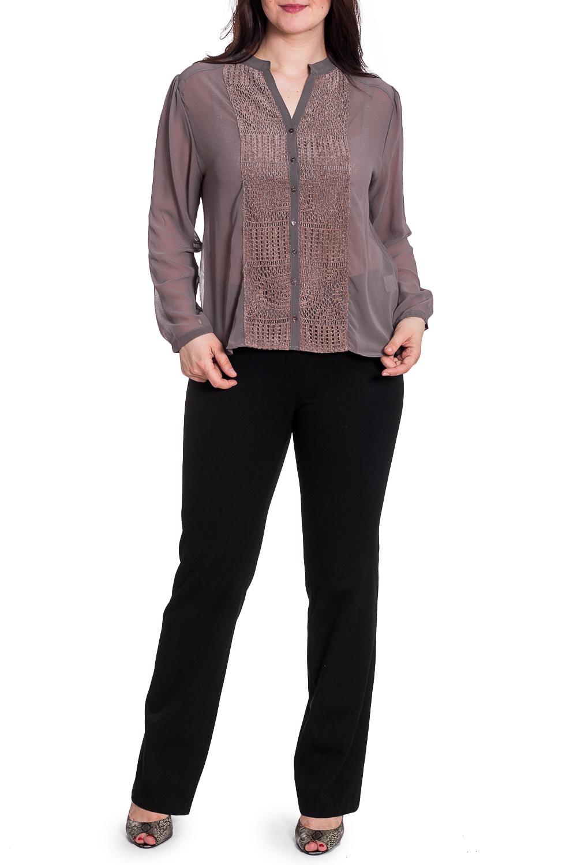 БлузкаБлузки<br>Однотонная блузка с фигурной горловиной и длинными рукавами. Модель выполнена из воздушного шифона. Отличный выбор для повседневного гардероба.  В изделии использованы цвета: светло-коричневый  Рост девушки-фотомодели 180 см<br><br>Горловина: Фигурная горловина<br>Застежка: С пуговицами<br>По материалу: Шифон<br>По рисунку: Однотонные<br>По сезону: Весна,Зима,Лето,Осень,Всесезон<br>По силуэту: Прямые,Свободные<br>По стилю: Повседневный стиль<br>По элементам: С декором<br>Рукав: Длинный рукав<br>Размер : 48,50<br>Материал: Шифон<br>Количество в наличии: 2