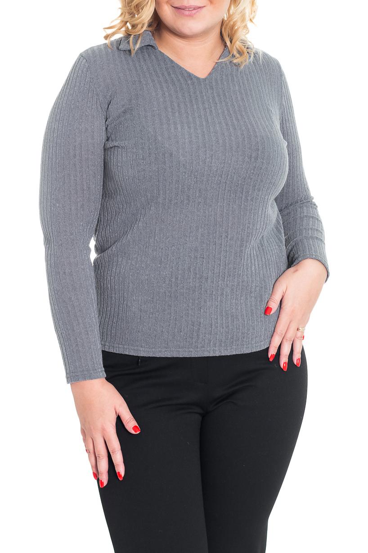 ПуловерДжемперы<br>Однотонный пуловер с длинными рукавами. Модель выполнена из приятного трикотажа. Отличный выбор для повседневного и делового гардероба.  Цвет: серый  Рост девушки-фотомодели 170 см<br><br>Горловина: V- горловина<br>По материалу: Трикотаж<br>По рисунку: Однотонные<br>По сезону: Зима<br>По силуэту: Полуприталенные<br>По стилю: Повседневный стиль<br>Рукав: Длинный рукав<br>Размер : 48,50<br>Материал: Трикотаж<br>Количество в наличии: 2