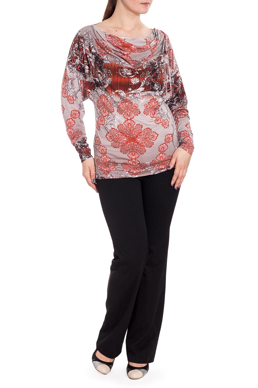 ДжемперТуники<br>Удлиненный джемпер с горловиной quot;качельquot;. Модель выполнена из приятного материала. Отличный выбор для повседневного гардероба.  В изделии использованы цвета: серый, оранжевый др.  Рост девушки-фотомодели 180 см.<br><br>Горловина: Качель<br>По материалу: Вискоза,Трикотаж<br>По рисунку: С принтом,Цветные<br>По силуэту: Приталенные<br>По стилю: Повседневный стиль<br>Рукав: Длинный рукав<br>По сезону: Осень,Весна,Зима<br>Размер : 48,52<br>Материал: Трикотаж<br>Количество в наличии: 3
