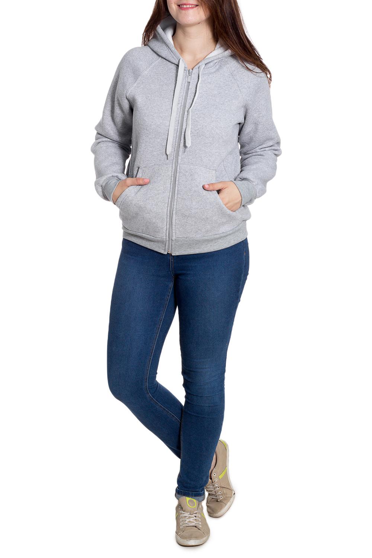 ТолстовкаСпортивная одежда<br>Теплая толстовка на флисовом подкладе. Отличный выбор для занятий спортом или активного отдыха.  Размеры 48, 50 на рост 170-176 см. Размеры 52,54,56 на рост 176-182 см.  Цвет: серый  Рост девушки-фотомодели 180 см<br><br>Застежка: С молнией<br>По длине: До колена<br>По материалу: Трикотаж,Хлопок<br>По рисунку: Однотонные<br>По сезону: Весна,Осень,Зима<br>По стилю: Повседневный стиль,Спортивный стиль<br>По форме: Кофты<br>По элементам: С капюшоном,С карманами,С манжетами<br>Рукав: Длинный рукав<br>Размер : 50<br>Материал: Трикотаж<br>Количество в наличии: 1