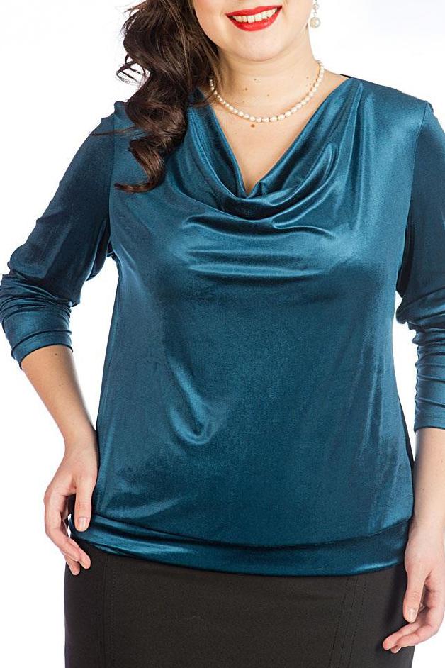БлузкаБлузки<br>Нарядная трикотажная блузка с мерцанием «Качели». Блузка прямого силуэта, на притачном поясе, рукав втачной длинный, вырез горловины овальный с драпировкой «качели»   Длина блузки по середине спинки: 60 см  Цвет: синий  Рост девушки-фотомодели 170 см.<br><br>Горловина: Качель<br>По материалу: Бархат,Трикотаж<br>По рисунку: Однотонные<br>По сезону: Весна,Всесезон,Зима,Лето,Осень<br>По силуэту: Прямые<br>По стилю: Нарядный стиль,Вечерний стиль<br>Рукав: Длинный рукав<br>Размер : 50<br>Материал: Бархат<br>Количество в наличии: 1