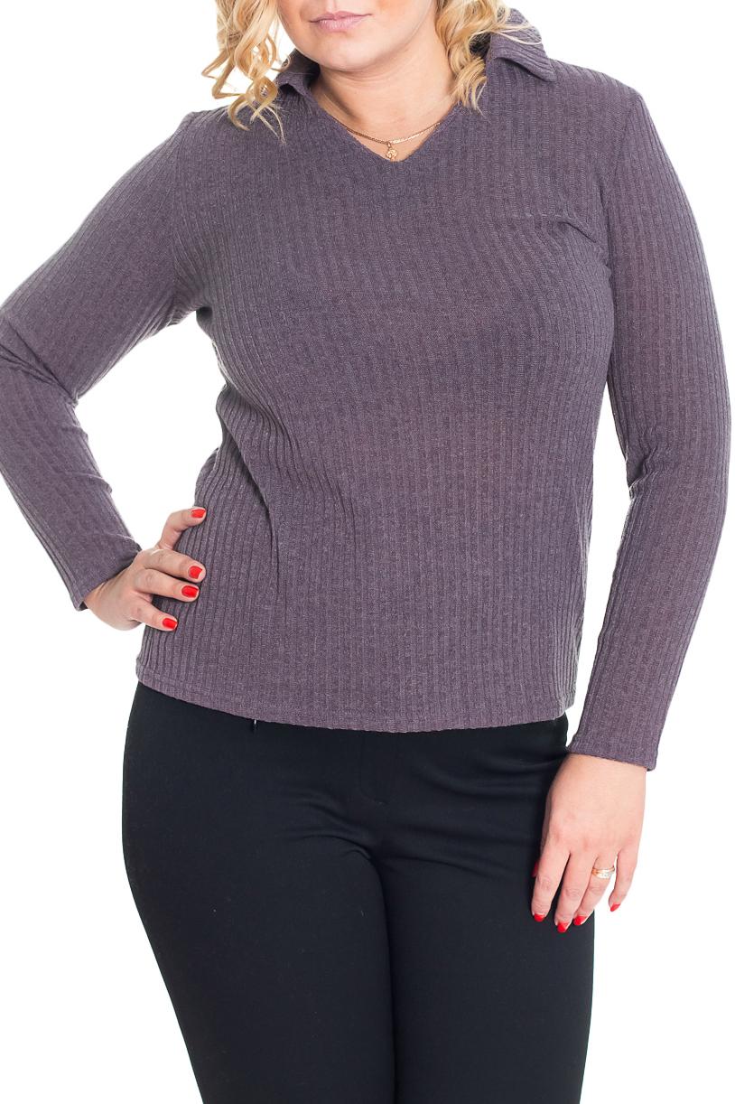 ПуловерДжемперы<br>Однотонный пуловер с длинными рукавами. Модель выполнена из приятного трикотажа. Отличный выбор для повседневного и делового гардероба.  Цвет: серо-сиреневый  Рост девушки-фотомодели 170 см<br><br>Горловина: V- горловина<br>По материалу: Трикотаж<br>По образу: Город,Офис<br>По рисунку: Однотонные<br>По сезону: Зима<br>По силуэту: Полуприталенные<br>По стилю: Повседневный стиль<br>Рукав: Длинный рукав<br>Размер : 48,50<br>Материал: Трикотаж<br>Количество в наличии: 2