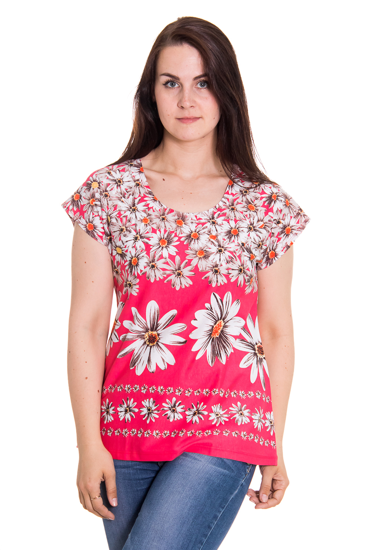 ФутболкаФутболки<br>Женская футболка с круглой горловиной и коротким рукавом. Домашняя одежда, прежде всего, должна быть удобной, практичной и красивой. В футболке Вы будете чувствовать себя комфортно, особенно, по вечерам после трудового дня.  Цвет: розовый, белый  Рост девушки-фотомодели 180 см.<br><br>По стилю: Повседневные,Возрастные,Молодежные<br>По материалу: Трикотажные,Хлопковые<br>По размеру: Большие размеры,Маленькие размеры<br>По рисунку: Цветочные,Растительные мотивы,Цветные<br>По сезону: Осень,Весна,Всесезон,Зима,Лето<br>По силуэту: Полуприталенные<br>По форме: Футболки<br>По длине: Удлиненные<br>Рукав: Короткий рукав<br>Горловина: С- горловина<br>Размер: 46,48,50,52,54,56,58,60,62<br>Материал: None<br>Количество в наличии: 2