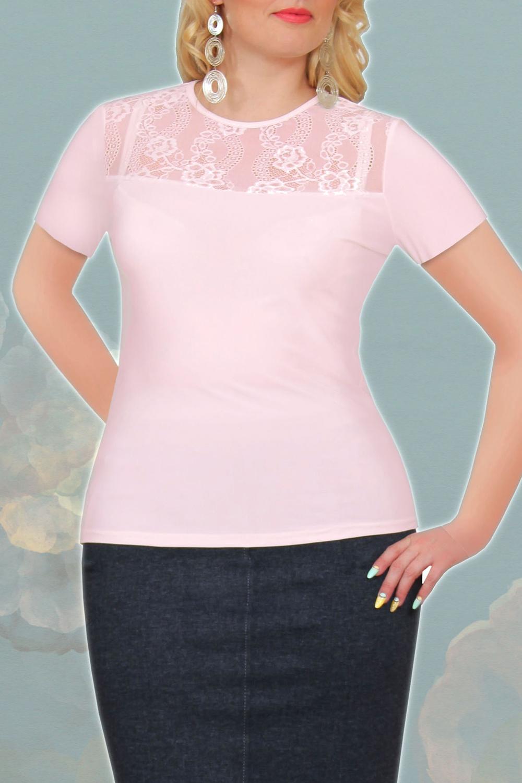 ДжемперБлузки<br>Однотонная блузка с гипюровой вставкой. Модель выполнена из приятного материала. Отличный выбор для любого случая. В изделии использованы цвета: розовыйРостовка изделия 164 см.<br><br>Горловина: С- горловина<br>Рукав: Короткий рукав<br>Материал: Гипюр,Трикотаж<br>Рисунок: Однотонные<br>Сезон: Весна,Всесезон,Зима,Лето,Осень<br>Силуэт: Приталенные<br>Стиль: Нарядный стиль,Повседневный стиль<br>Элементы: С декором<br>Размер : 48,50,52<br>Материал: Трикотаж + Гипюр<br>Количество в наличии: 3