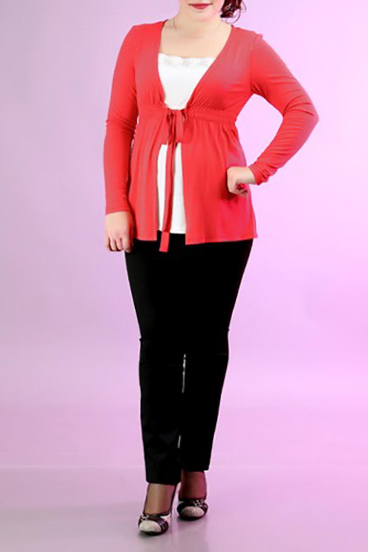 БлузкаБлузки<br>Женская блузка с длинными рукавами. Модель выполнена из мягкой вискозы. Отличный выбор для повседневного гардероба. Блузка имитирует блузку и кардиган.  За счет свободного кроя и эластичного материала изделие можно носить во время беременности  Цвет: красный с белым<br><br>По материалу: Вискоза,Трикотаж<br>По рисунку: Однотонные<br>По сезону: Весна,Зима,Осень,Лето,Всесезон<br>По силуэту: Полуприталенные<br>Рукав: Длинный рукав<br>По стилю: Повседневный стиль<br>Горловина: С- горловина<br>Размер : 46,52<br>Материал: Вискоза<br>Количество в наличии: 2