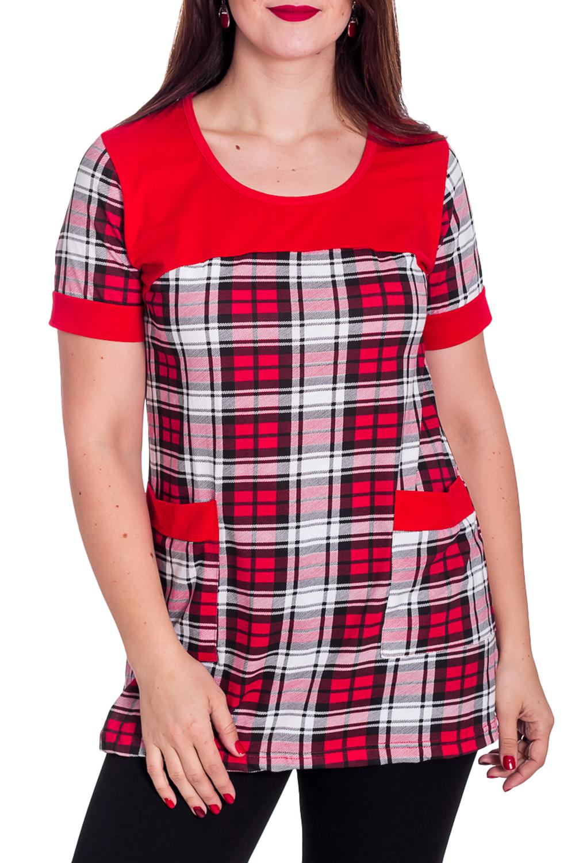 ТуникаТуники<br>Хлопковая туника с короткими рукавами. Домашняя одежда, прежде всего, должна быть удобной, практичной и красивой. В тунике Вы будете чувствовать себя комфортно, особенно, по вечерам после трудового дня.  В изделии использованы цвета: красный, белый, черный  Рост девушки-фотомодели 180 см<br><br>Горловина: С- горловина<br>По материалу: Хлопок<br>По рисунку: В клетку,С принтом,Цветные<br>По сезону: Весна,Зима,Лето,Осень,Всесезон<br>По силуэту: Полуприталенные<br>По элементам: С карманами<br>Рукав: Короткий рукав<br>Размер : 48,56<br>Материал: Хлопок<br>Количество в наличии: 4