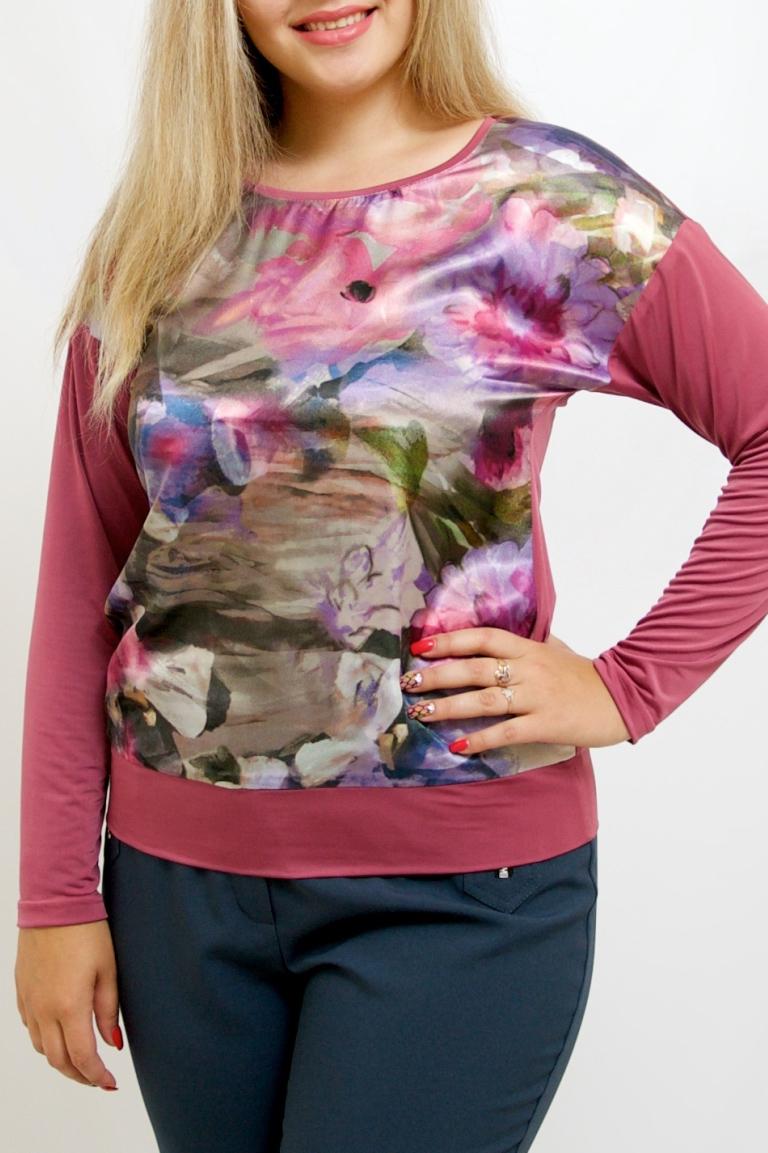 БлузкаБлузки<br>Цветная блузка с длинными рукавами. Модель выполнена из приятного материала. Отличный выбор для повседневного гардероба.  В изделии использованы цвета: розовый, зеленый и др.  Рост девушки-фотомодели 170 см<br><br>Горловина: С- горловина<br>По материалу: Шелк<br>По рисунку: Растительные мотивы,С принтом,Цветные,Цветочные<br>По сезону: Весна,Зима,Лето,Осень,Всесезон<br>По силуэту: Полуприталенные<br>По стилю: Повседневный стиль<br>Рукав: Длинный рукав<br>Размер : 44-46,48-50,52-56,58-62,64-68<br>Материал: Шелк<br>Количество в наличии: 7