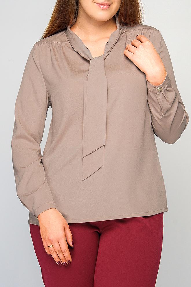 БлузкаБлузки<br>Блузка с воротником-галстуком прямого силуэта длиной до бедер. Аккуратный вырез горловины оформлен изящным воротником-галстуком. Длинные рукава на манжете с пуговицей. Однотонная блуза отлично дополнит Ваш офисный гардероб. Данную модель можно комбинировать с классическими юбками и брюками любых расцветок.Параметры изделия: 52 размер: обхват по линии груди - 116 см, обхват по линии бедра - 118 см, длина рукава - 59 см, длина изделия - 64 см; 60 размер: обхват по линии груди - 130 см, обхват по линии бедра - 132 см, длина рукава - 60 см, длина изделия - 65,5 см. В изделии использованы цвета: кофейныйРост девушки-фотомодели 175 см<br><br>Горловина: С- горловина<br>Рукав: Длинный рукав<br>Материал: Блузочная ткань,Тканевые<br>Рисунок: Однотонные<br>Сезон: Весна,Всесезон,Зима,Лето,Осень<br>Силуэт: Прямые<br>Стиль: Офисный стиль,Повседневный стиль<br>Элементы: С манжетами<br>Размер : 60<br>Материал: Блузочная ткань<br>Количество в наличии: 1