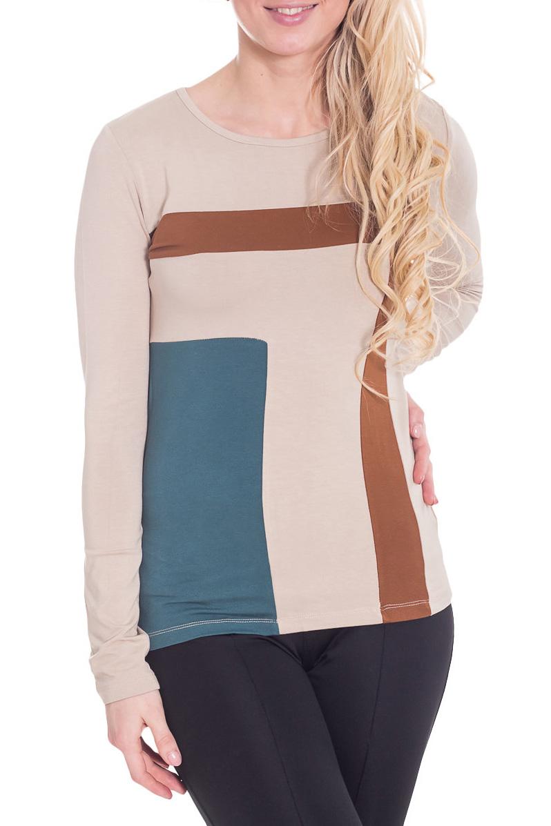 БлузкаБлузки<br>Практичная блузка с круглой горловиной и длинными рукавами. Модель выполнена из мягкой вискозы. Отличный выбор для повседневного гардероба.  Цвет: бежевый, коричневый, синий  Рост девушки-фотомодели 170 см.<br><br>Горловина: С- горловина<br>По материалу: Вискоза<br>По рисунку: С принтом,Цветные<br>По сезону: Весна,Зима,Лето,Осень,Всесезон<br>По силуэту: Полуприталенные<br>По стилю: Повседневный стиль<br>Рукав: Длинный рукав<br>Размер : 44,46,48<br>Материал: Вискоза<br>Количество в наличии: 3