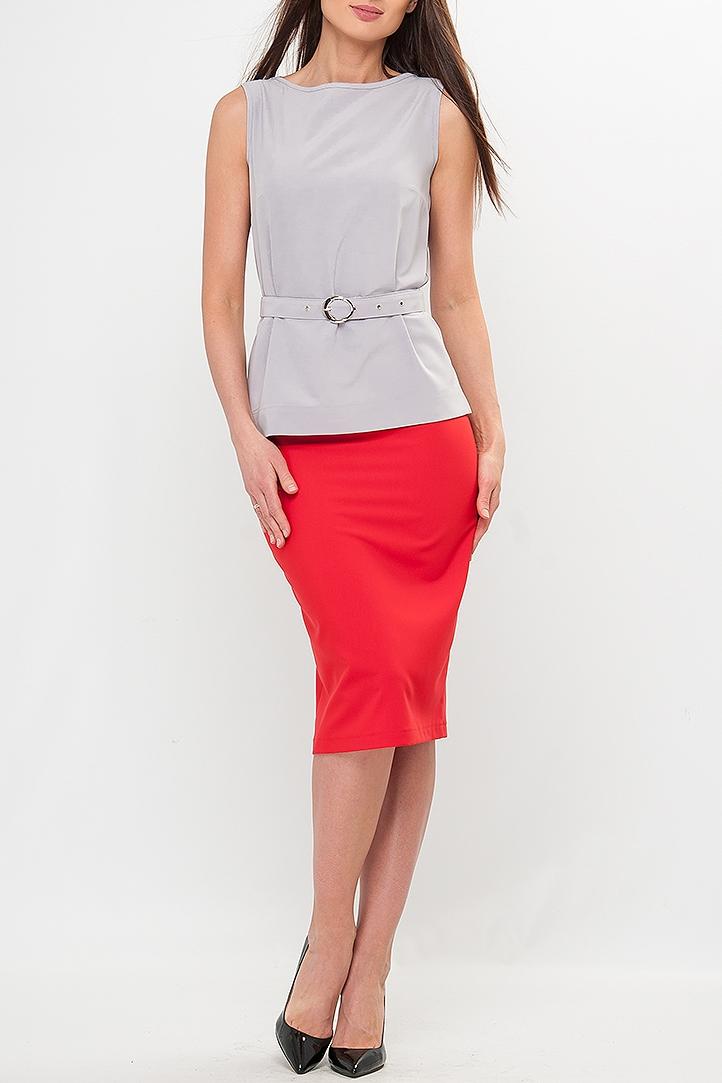 БлузкаБлузки<br>Блуза женская прямого силуэта однотонной расцветки, благодаря которой легко подобрать комплект. Блуза хорошо комбинируется с любыми жакетами или кардиганами. Отличное решение для Вашего базового гардероба. Блуза без застежки.В изделии использованы цвета: серыйРост девушки-фотомодели 175 см.<br><br>Горловина: Лодочка<br>Материал: Блузочная ткань,Хлопок<br>Рисунок: Однотонные<br>Рукав: Без рукавов<br>Сезон: Весна,Зима,Лето,Осень,Всесезон<br>Силуэт: Полуприталенные<br>Стиль: Кэжуал,Офисный стиль,Повседневный стиль<br>Элементы: С поясом<br>Размер : 42,44,46,48,52,54,56<br>Материал: Блузочная ткань<br>Количество в наличии: 7