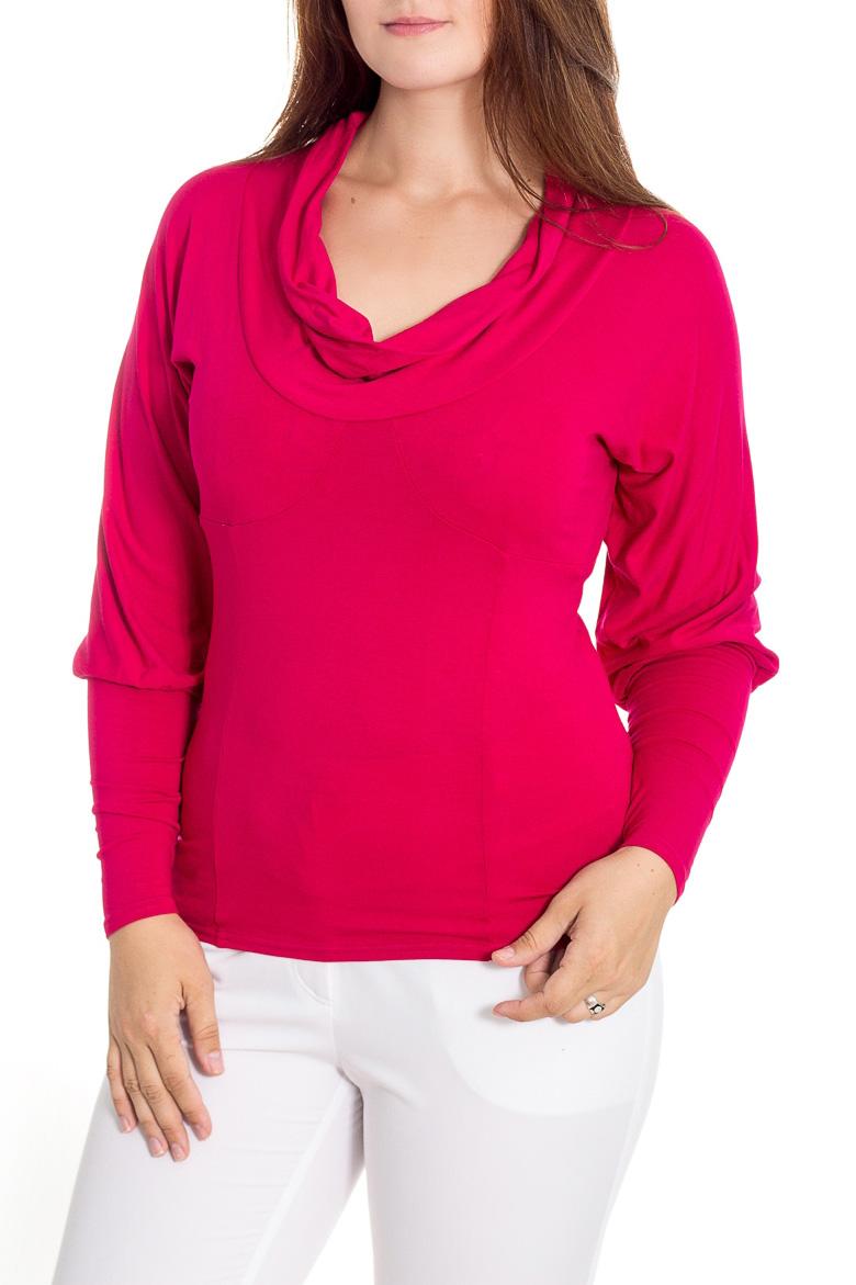БлузкаБлузки<br>Женственная блуза из вискозы насыщенного тона,  отрезная под грудью по фигурной линии, подчеркивающей бюст. Прилегающий низ блузки уравновешивается объемными цельнокроеными рукавами, которые хорошо драпируют руки и широким двойным воротником на углубленной горловине. Нижняя часть переда с продольными рельефами. Рукава на длинной (до локтя) прилегающей манжете.   Длина  до 48 размера - 62 см., после 50 размера - 66 см.    Цвет: вишневый  Рост девушки-фотомодели 180 см<br><br>Воротник: Хомут<br>По материалу: Вискоза,Трикотаж<br>По рисунку: Однотонные<br>По сезону: Весна,Зима,Лето,Осень,Всесезон<br>По силуэту: Приталенные<br>По стилю: Повседневный стиль<br>По элементам: С манжетами<br>Рукав: Длинный рукав<br>Размер : 48,52,54,58<br>Материал: Вискоза<br>Количество в наличии: 4