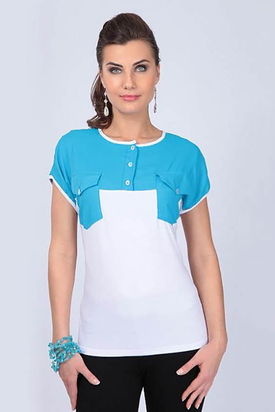 Блузка блузка женская sela цвет белый b 112 1394 9181 размер 46