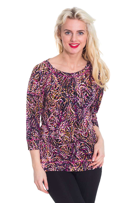 ДжемперКофты<br>Яркий джемпер с рукавами 3/4. Домашняя одежда, прежде всего, должна быть удобной, практичной и красивой. В джемпере Вы будете чувствовать себя комфортно, особенно, по вечерам после трудового дня.  Цвет: розовый, сиреневый, фиолетовый, желтый  Рост девушки-фотомодели 170 см.<br><br>По стилю: Повседневные<br>По материалу: Вискоза,Трикотажные<br>По рисунку: В горошек,Цветные<br>По сезону: Весна,Осень<br>По силуэту: Свободные<br>Рукав: Рукав три четверти<br>Горловина: С- горловина<br>Размер: 44,46,48,50,52,54,56,58,60<br>Материал: 95% вискоза 5% эластан<br>Количество в наличии: 7