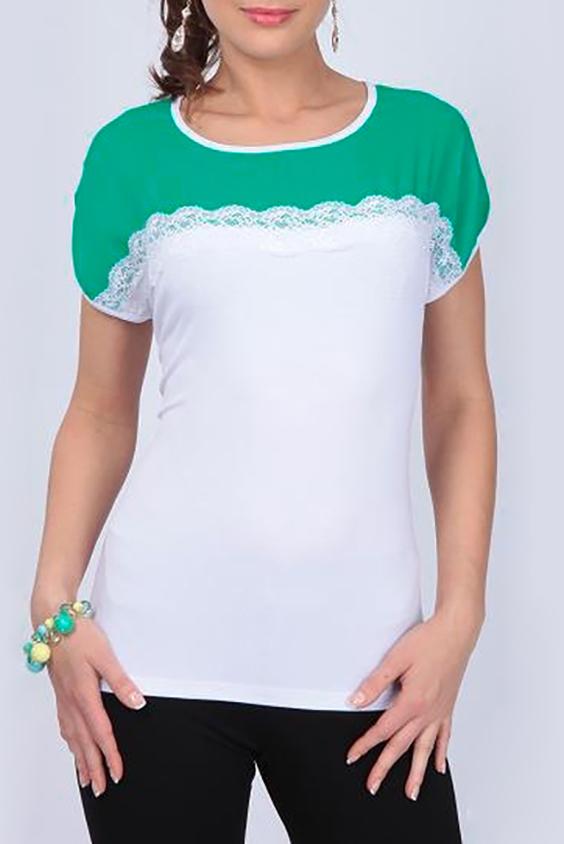 БлузкаБлузки<br>Чудесная блузка с круглой горловиной и короткими рукавами. Модель выполнена из приятного материала. Отличный выбор для любого случая.  Цвет: белый, зеленый  Параметры (обхват груди; обхват талии; обхват бедер): 44 размер - 88; 66,4; 96 см 46 размер - 92; 70,6; 100 см 48 размер - 96; 74,2; 104 см 50 размер - 100; 90; 106 см 52 размер - 104; 94; 110 см 54-56 размер - 108-112; 98-102; 114-118 см 58-60 размер - 116-120; 106-110; 124-130 см<br><br>Горловина: С- горловина<br>По материалу: Вискоза,Шифон<br>По рисунку: Цветные<br>По сезону: Весна,Зима,Лето,Осень,Всесезон<br>По силуэту: Полуприталенные<br>По стилю: Повседневный стиль<br>Рукав: Короткий рукав<br>Размер : 52<br>Материал: Вискоза + Шифон<br>Количество в наличии: 1