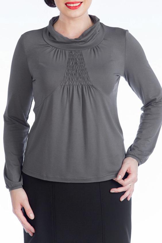 БлузкаБлузки<br>Красивая блузка с длинными рукавами. Модель выполнена из мягкой вискозы. Отличный выбор для любого случая.  Цвет: серый  Ростовка изделия 170 см.<br><br>Воротник: Хомут<br>По материалу: Вискоза<br>По образу: Город,Свидание<br>По рисунку: Однотонные<br>По сезону: Весна,Зима,Лето,Осень,Всесезон<br>По силуэту: Полуприталенные<br>По стилю: Повседневный стиль<br>По элементам: С декором<br>Рукав: Длинный рукав<br>Размер : 48,50,52,54,56<br>Материал: Вискоза<br>Количество в наличии: 9