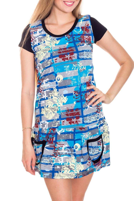 ТуникаТуники<br>Хлопковая туника с короткими рукавами. Домашняя одежда, прежде всего, должна быть удобной, практичной и красивой. В нашей домашней одежде Вы будете чувствовать себя комфортно, особенно, по вечерам после трудового дня.  Цвет: голубой, серый, черный и др.  Рост девушки-фотомодели 170 см.<br><br>Горловина: С- горловина<br>По длине: Удлиненные<br>По рисунку: Цветные,С принтом<br>По сезону: Весна,Зима,Лето,Осень,Всесезон<br>По силуэту: Полуприталенные<br>Рукав: Короткий рукав<br>По материалу: Хлопок<br>Размер : 42-44<br>Материал: Хлопок<br>Количество в наличии: 2