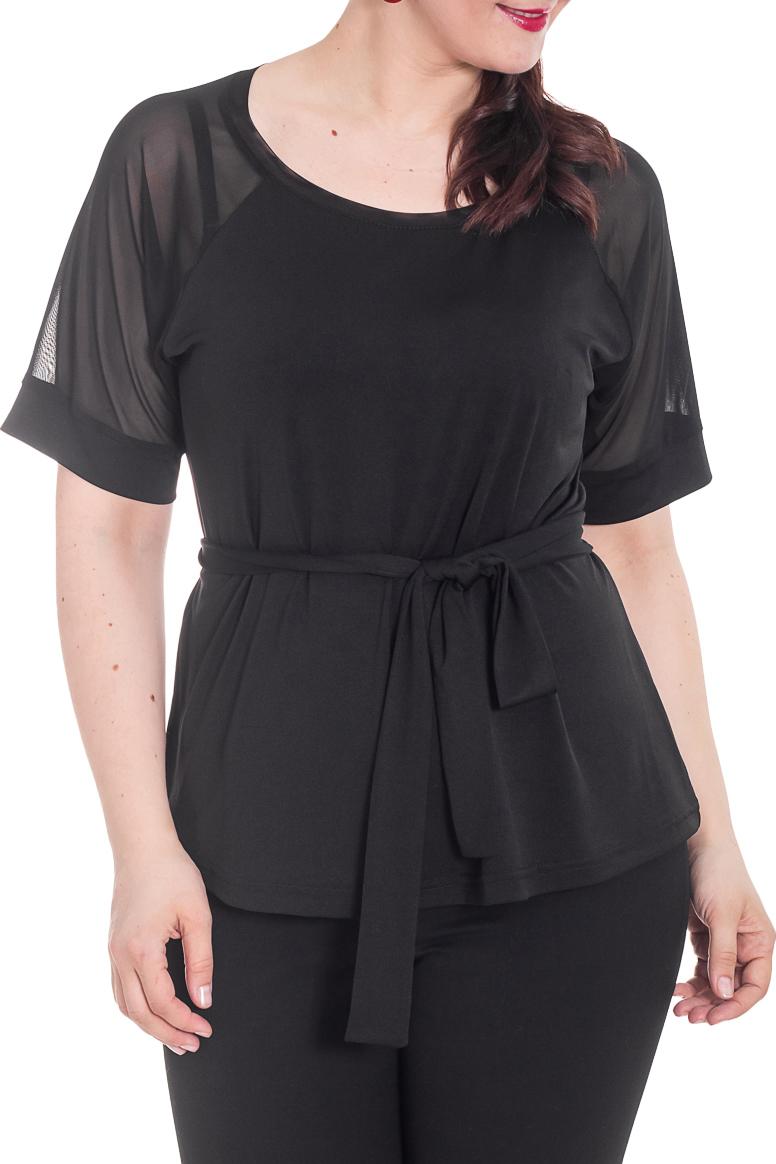БлузкаБлузки<br>Однотонная блузка с рукавами до локтя и круглой горловиной. Модель выполнена из приятного материала. Отличный выбор для повседневного гардероба. Блузка без пояса.  Цвет: черный  Рост девушки-фотомодели 180 см.<br><br>Горловина: С- горловина<br>По материалу: Вискоза,Гипюровая сетка<br>По образу: Свидание<br>По рисунку: Однотонные<br>По сезону: Весна,Зима,Лето,Осень,Всесезон<br>По силуэту: Полуприталенные<br>По стилю: Повседневный стиль,Нарядный стиль<br>Рукав: До локтя<br>Размер : 50,56<br>Материал: Вискоза + Гипюр<br>Количество в наличии: 3