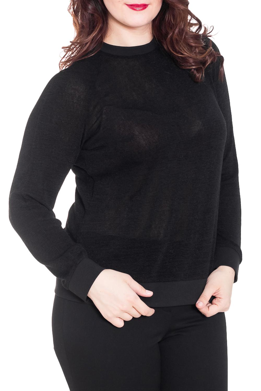 ДжемперДжемперы<br>Однотонный женский джемпер. Длинные рукава, круглый вырез горловины. Отлично смотрится с брюками и юбками.  Цвет: черный  Рост девушки-фотомодели 180 см.<br><br>Горловина: С- горловина<br>По материалу: Трикотаж<br>По рисунку: Однотонные<br>По сезону: Весна,Осень,Зима<br>По силуэту: Полуприталенные<br>По стилю: Офисный стиль,Повседневный стиль<br>По элементам: С манжетами<br>Рукав: Длинный рукав<br>Размер : 52<br>Материал: Трикотаж<br>Количество в наличии: 1