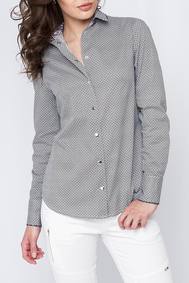 РубашкаРубашки<br>Классическая рубашка с длинными рукавами и застежкой на кнопки.  Параметры изделия:  44 размер: обхват груди - 95,5 см, обхват по линии бедер - 102,5 см, длина по спинке - 66 см, длина рукава - 60 см; 52 размер: обхват груди - 111,5 см, обхват по линии бедер - 118,5 см, длина по спинке - 69 см, длина рукава - 61 см  Цвет: черный, белый  Рост девушки-фотомодели 170 см<br><br>Воротник: Рубашечный<br>Застежка: С кнопками<br>По материалу: Хлопок<br>По рисунку: С принтом,Цветные<br>По сезону: Весна,Зима,Лето,Осень,Всесезон<br>По силуэту: Полуприталенные<br>По стилю: Классический стиль,Офисный стиль,Повседневный стиль<br>По элементам: С манжетами<br>Рукав: Длинный рукав<br>Размер : 40<br>Материал: Хлопок<br>Количество в наличии: 1