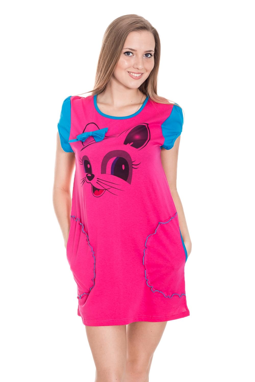 Туника threegun женская хлопковая домашняя одежда