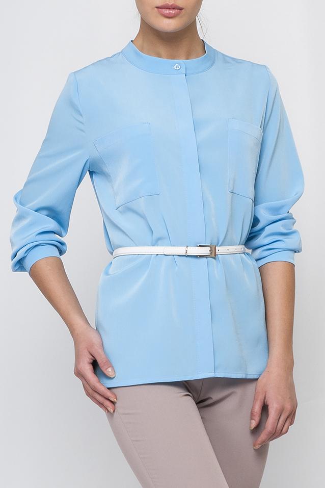 БлузкаБлузки<br>Однотонная блузка прямого силуэта с длинными рукавами и застежкой на пуговицы. Отличный выбор для любого случая. Блузка без пояса.  Параметры изделия:  44 размер: обхват по линии груди 102 см, обхват по линии бедер 103 см, длина по спинке - 64,2 см, длина рукава - 59 см;  52 размер: обхват по линии груди 118 см, обхват по линии бедер 119 см, длина по спинке - 68,5 см, длина рукава - 60 см  Цвет: голубой  Рост девушки-фотомодели 170 см<br><br>Горловина: С- горловина<br>Застежка: С пуговицами<br>По материалу: Блузочная ткань<br>По образу: Город,Офис,Свидание<br>По рисунку: Однотонные<br>По сезону: Весна,Зима,Лето,Осень,Всесезон<br>По силуэту: Прямые<br>По стилю: Офисный стиль,Повседневный стиль<br>Рукав: Рукав три четверти<br>Размер : 48,50<br>Материал: Блузочная ткань<br>Количество в наличии: 3