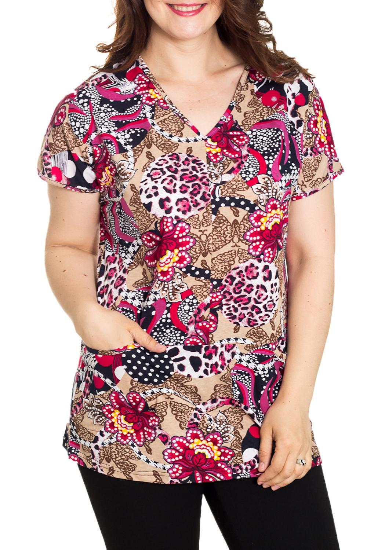 ДжемперТуники<br>Домашний джемпер с короткими рукавами Домашняя одежда, прежде всего, должна быть удобной, практичной и красивой. В джемпере Вы будете чувствовать себя комфортно, особенно, по вечерам после трудового дня.  Цвет: мультицвет  Рост девушки-фотомодели 180 см.<br><br>Горловина: V- горловина<br>По длине: Удлиненные<br>По рисунку: Цветные,Цветочные,С принтом<br>По сезону: Весна,Зима,Лето,Осень,Всесезон<br>По силуэту: Полуприталенные<br>По элементам: С карманами<br>Рукав: Короткий рукав<br>По материалу: Хлопок<br>Размер : 50,52,62<br>Материал: Хлопок<br>Количество в наличии: 4