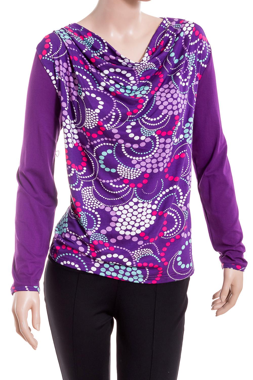 ДжемперДжемперы<br>Цветной джемпер с горловиной quot;качельquot; и длинными рукавами. Модель выполнена из приятного материала. Отличный выбор для повседневного гардероба.  В изделии использованы цвета: фиолетовый, белый, розовый и др.  Ростовка изделия 170 см.<br><br>Горловина: Качель<br>По материалу: Вискоза<br>По рисунку: С принтом,Цветные<br>По сезону: Зима,Осень,Весна<br>По силуэту: Полуприталенные<br>По стилю: Повседневный стиль<br>Рукав: Длинный рукав<br>Размер : 46-48,50-52<br>Материал: Вискоза<br>Количество в наличии: 6